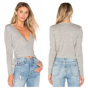 LOVERS + FRIENDS WRAP SWEATER REFORMATION TULAROSA